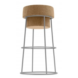 Bouchon Cork Counter Stool with Satinated Aluminum Frame