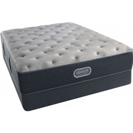 Beautyrest Recharge Silver Comfort Gray Tight Top Plush Queen Size Mattress with Foundation