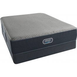 BeautyRest Silver Hybrid Barrier Lagoon Tight Top Plush King Size Mattress with Foundation