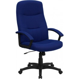 High Back Navy Fabric Executive Swivel Office Chair