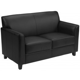 Hercules Diplomat Series Black Leather Loveseat