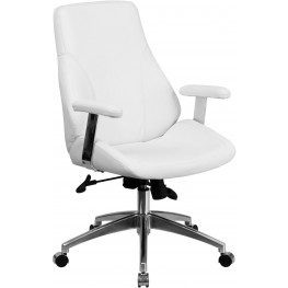 31874 White Executive Swivel Office Chair