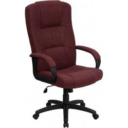 1000488 High Back Burgundy Fabric Executive Office Chair
