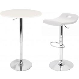 Adjustable White Bar Set