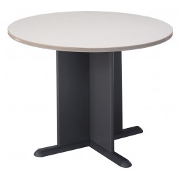 Series A Pewter 42 Inch Round Conference Table