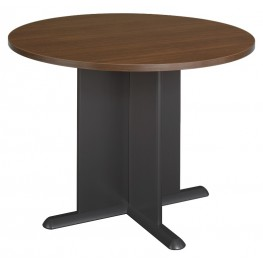 Series A Sienna Walnut 42 Inch Round Conference Table