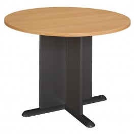 Series A Light Oak 42 Inch Round Conference Table