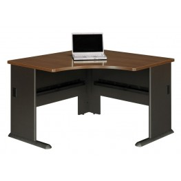 Series A Sienna Walnut 48 Inch Corner Desk