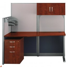 Office-in-an-Hour Straight Workstation With Storage