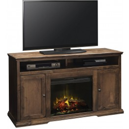 "Bozeman Aged Whiskey 59"" Fireplace Console"