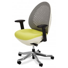 Linq Mid Snow Mesh Swivel Chair
