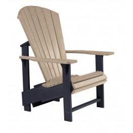 Generations Beige/Black Upright Adirondack Chair