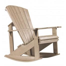 Generations Beige Adirondack Rocking Chair