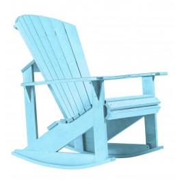 Generations Aqua Adirondack Rocking Chair