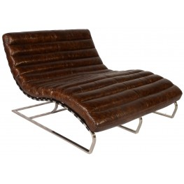 Perici Snap Leather Double Chaise