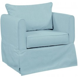 Alexandria Sterling Blue Breeze Chair Cover