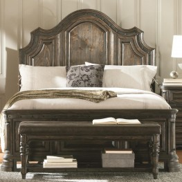 Carlsbad Dark Brown King Panel Bed