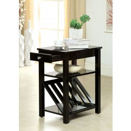 Cortz I Black 1 Drawer Magazine Stand