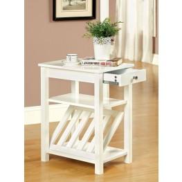 Cortz I White Magazine Stand
