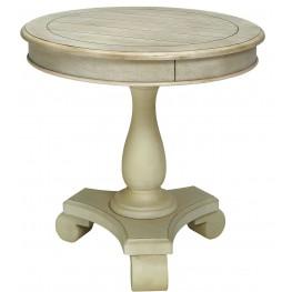 Kalea Antique White Round Accent Table