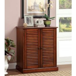 Della Oak Shoe Adjustable Shelves Cabinet