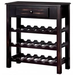 Tessa Antique Black Wine Cabinet