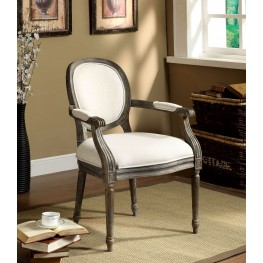 Conway Reclaimed Gray Linen Accent Chair