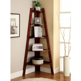 Lyss Cherry Ladder Shelf