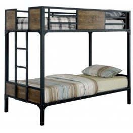 Clapton Twin Over Twin Metal Bunk Bed