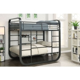 Olivet Gunmetal Full Over Full Bunk Bed