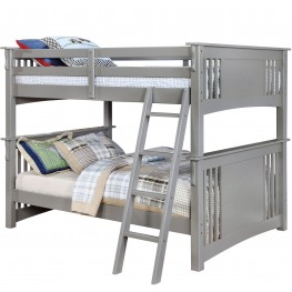 Spring Creek Gray Full Over Full Bunk Bed