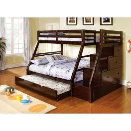 Ellington Dark Walnut Twin Over Full Bunk Bed
