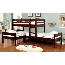 Ranford Espresso Twin Over Twin Bunk Bed
