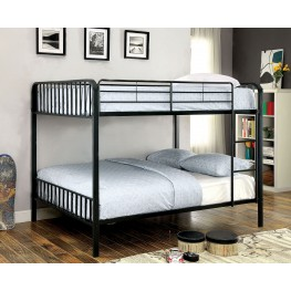 Clement Black Full Over Full Metal Bunk Bed