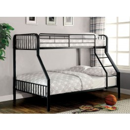 Clement Black Twin Over Full Metal Bunk Bed