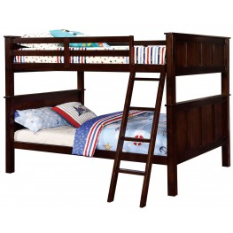 Gracie Dark Walnut Full Over Full Bunk Bed