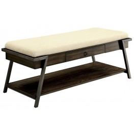 Blanche Dark Oak Bench