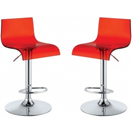 Trixy Red High Back Bar Chair Set Of 2