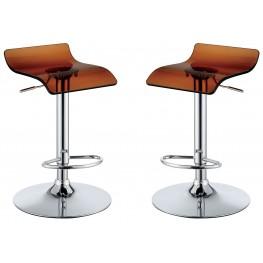 Trixy Brown Low Back Bar Chair Set Of 2