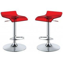 Trixy Red Low Back Bar Chair Set Of 2