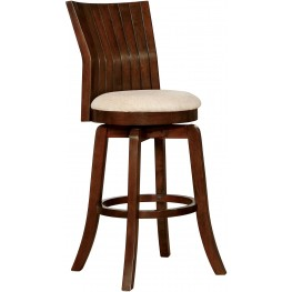 "Edgeland Walnut 29"" Swivel Bar Stool"