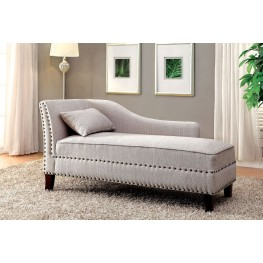 Stillwater Beige Fabric Chaise