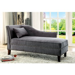 Stillwater Gray Fabric Chaise