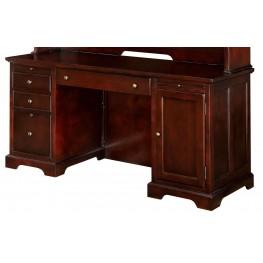 Desmont Cherry Credenza Desk