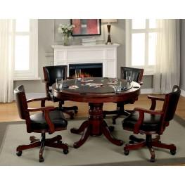 Portia Chestnut Game Table Set