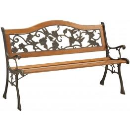 Alba Antique Antique Oak Park Bench
