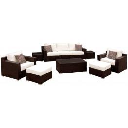 Helina White 8 Piece Patio Sofa Set