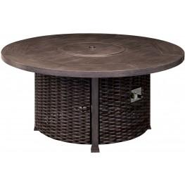 Fernanda Antique Black Fire Pit Table