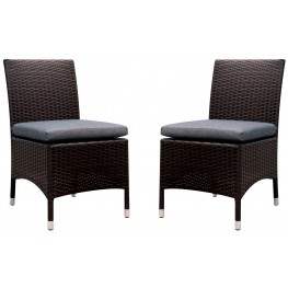 Comidore Gray Fabric Side Chair Set Of 2