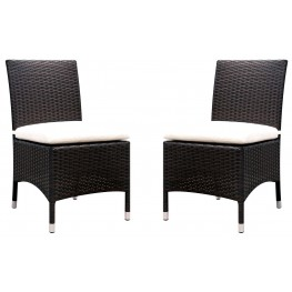 Comidore White Fabric Side Chair Set Of 2